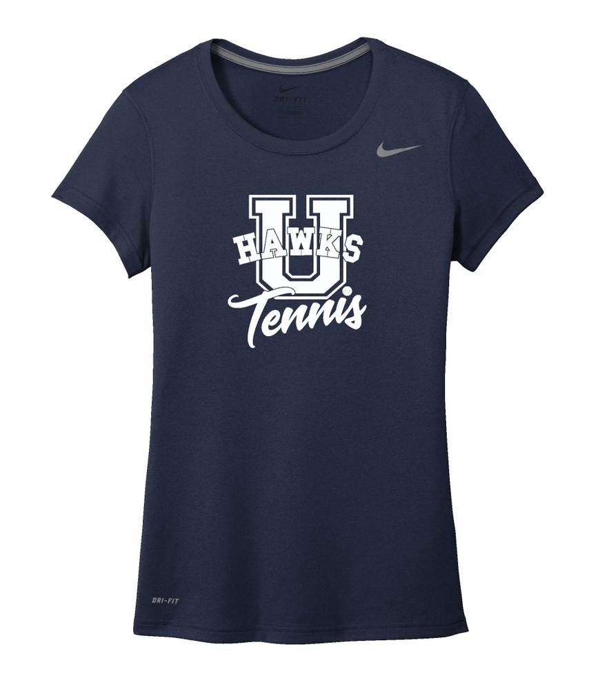 UHS Urbana Hawks TENNIS T-shirt NIKE Performance Dri-FIT LADIES SZ S-2XL NAVY