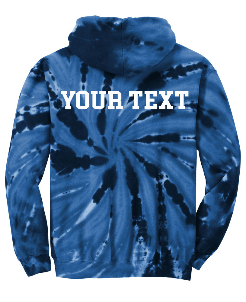 UHS Urbana Hawks TENNIS Tie Dyed Cotton Hoodie Sweatshirt Many Colors Available SZ S-3XL BACKSIDE OPTIONAL PERSONALIZATION