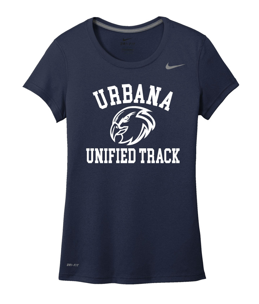 UHS Urbana Hawks UNIFIED TRACK T-shirt NIKE Performance Dri-FIT LADIES Many Colors Available Sz S-2XL NAVY