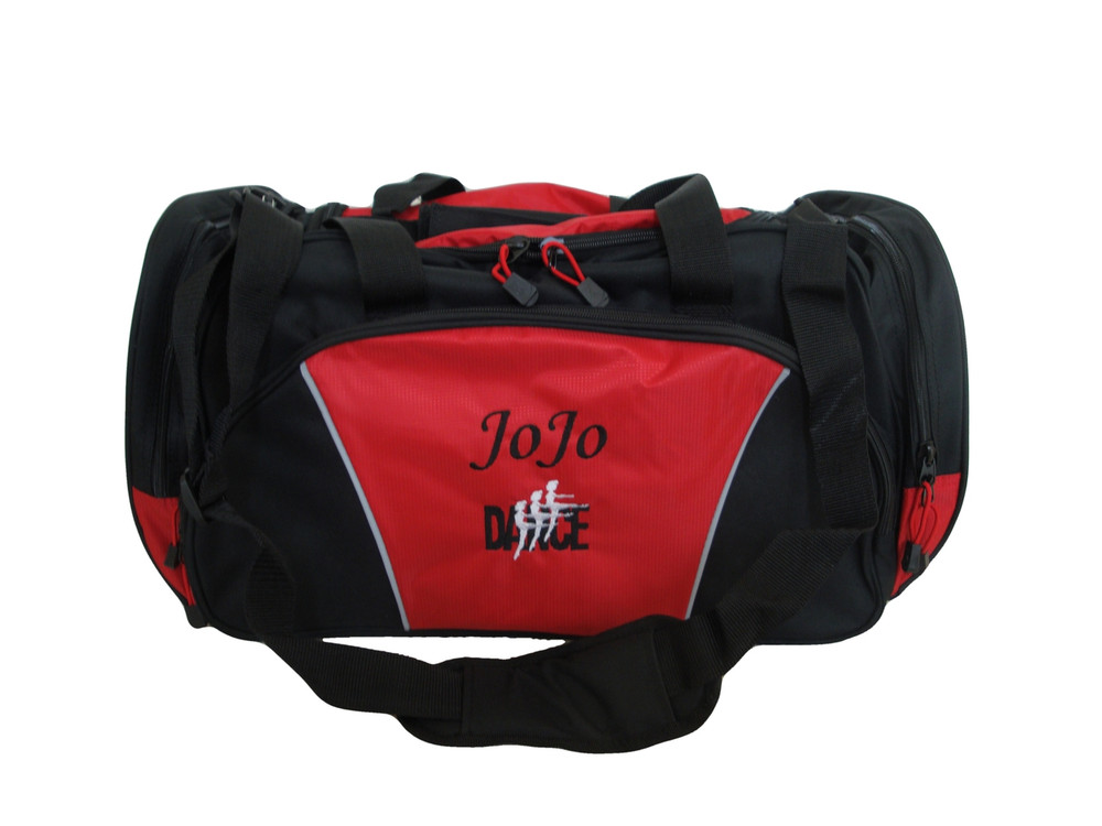Dancers Dance Ballet Personalized Embroidered RED DUFFEL Font Style MONO CORSIVA