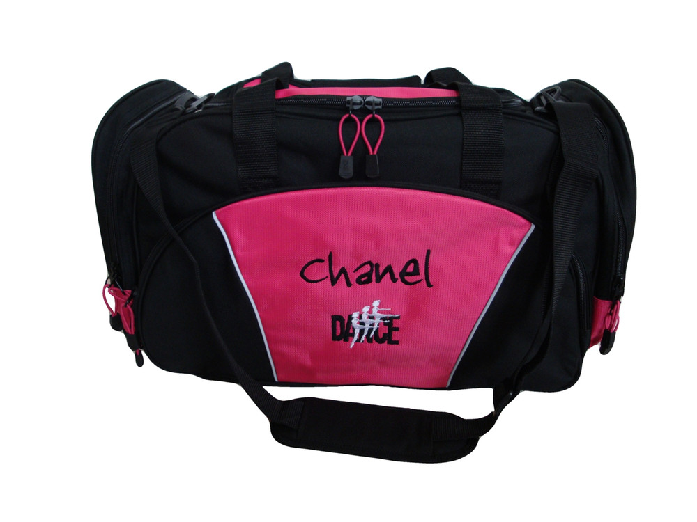 Dancers Dance Ballet Personalized Embroidered HOT PINK DUFFEL Font Style JENKINS