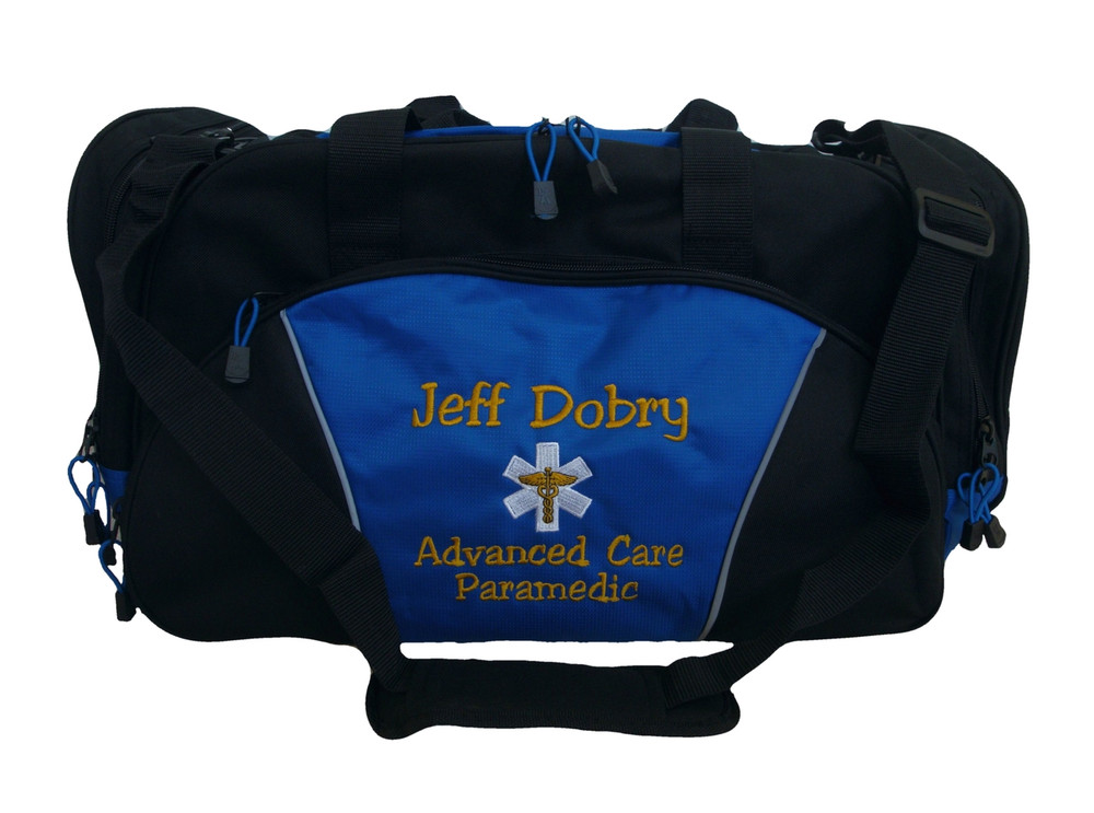 Star of Life Caduceus ROYAL BLUE DUFFEL EMT EMS Paramedic First Responder Personalized Embroidered Font Style JESTER