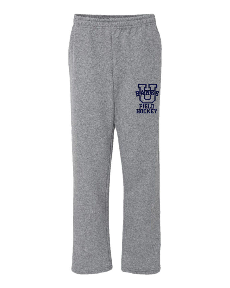 Urbana Sweatpants FIELD HOCKEY Cotton OPEN BOTTOM With Pockets Many Colors Available SZ S-2XL SPORTS GREY