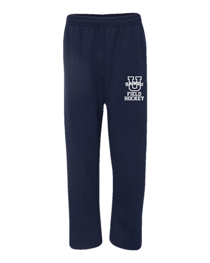 Urbana Sweatpants FIELD HOCKEY Cotton OPEN BOTTOM With Pockets Many Colors Available SZ S-2XL SPORTS NAVY