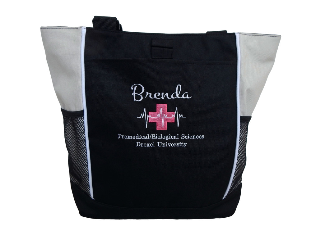Heartbeat First Aid Cross EKG Stone Premedical Biosciences EMT EMS Medic Paramedic Fire Rescue Tote Monte Carlo & Bodini Font