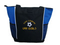 Soccer Ball Sports Custom Personalized Tote Bag Royal Blue Childs Play Font