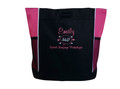 Speaking Bubble Speech Language Pathologist SLP Autism Personalized Embroidered Zippered TROPICAL HOT PINK Tote Bag Font Style CASUAL SCRIPT