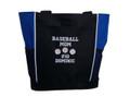 Baseball Softball Sports Team Mom Custom Personalized ROYRAL BLUE Tote Bag Font Style VARSITY