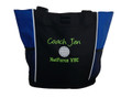 Volleyball Sports Team Mom Custom Personalized ROYAL BLUE Tote Bag Font Style HANDWRITTEN