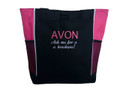 AVON Ask me for a Brochure! HOT PINK Tote Bag ARIAL & LISA Font Style