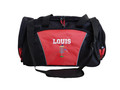Frisbee Disc Golf Sports Personalized Monogrammed Embroidered RED Duffel FONT STYLE VARSITY