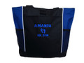 Baby Feet NICU Nursing Nurse ER RN BSN Mother Baby Paramedic ROYAL BLUE Tote Bag Font Style BRADY BUNCH