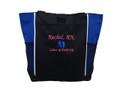 Baby Feet NICU Nursing Nurse ER RN BSN Labor & Delivery Mother Baby Paramedic ROYAL BLUE Tote Bag Font Style MONO CORSIVA
