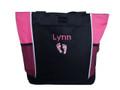 Baby Feet NICU Nursing Nurse ER RN BSN Mother Baby Paramedic TROPICAL HOT PINK Tote Bag Font Style CHILDS PLAY