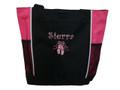 Ballet Shoes Ballerina Dancer HOT PINK Zippered Tote Bag Font Style CURLZ