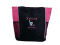 Pharmacist Pharmacy Pharm D RX Student HOT PINK Tote Bag Font Style KING CHARLES