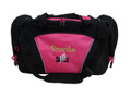 Dancers Dance Ballet Personalized Embroidered HOT PINK DUFFEL Font Style CURLZ