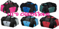 HT's Creations Custom Monogrammed Personalized Zippered DUFFEL BAG COLORS Hot Pink Royal Blue Hunter Green Grey Light Blue Red