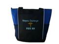 Caduceus Nursing Registered Nurse RN BSN CNA LPN Student ROYAL BLUE Tote Bag Font Style ARIAL