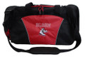 Ice Skates Figure Skating Dance Personalized Embroidered RED DUFFEL Font Style VARSITY OPEN