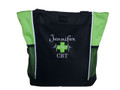 Heartbeat First Aid Cross EKG Lime Green EMT EMS Medic Paramedic Fire Rescue Tote Monte Carlo & Bodini Font