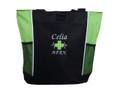 Heartbeat First Aid Cross EKG Lime Green APRN RN Fire Rescue Tote Monte Carlo & Bodini Font