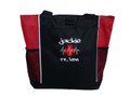 Heartbeat First Aid Cross EKG Red Family Nurse Practitioner RN BSN LVN CNA LPN MSN Paramedic Tote Grafitti Font