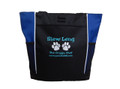 Paw Prints Doggie Chef Dog Groomer Custom Personalized Embroidered ROYAL BLUE AQUA Tote Bag Font Style Jester