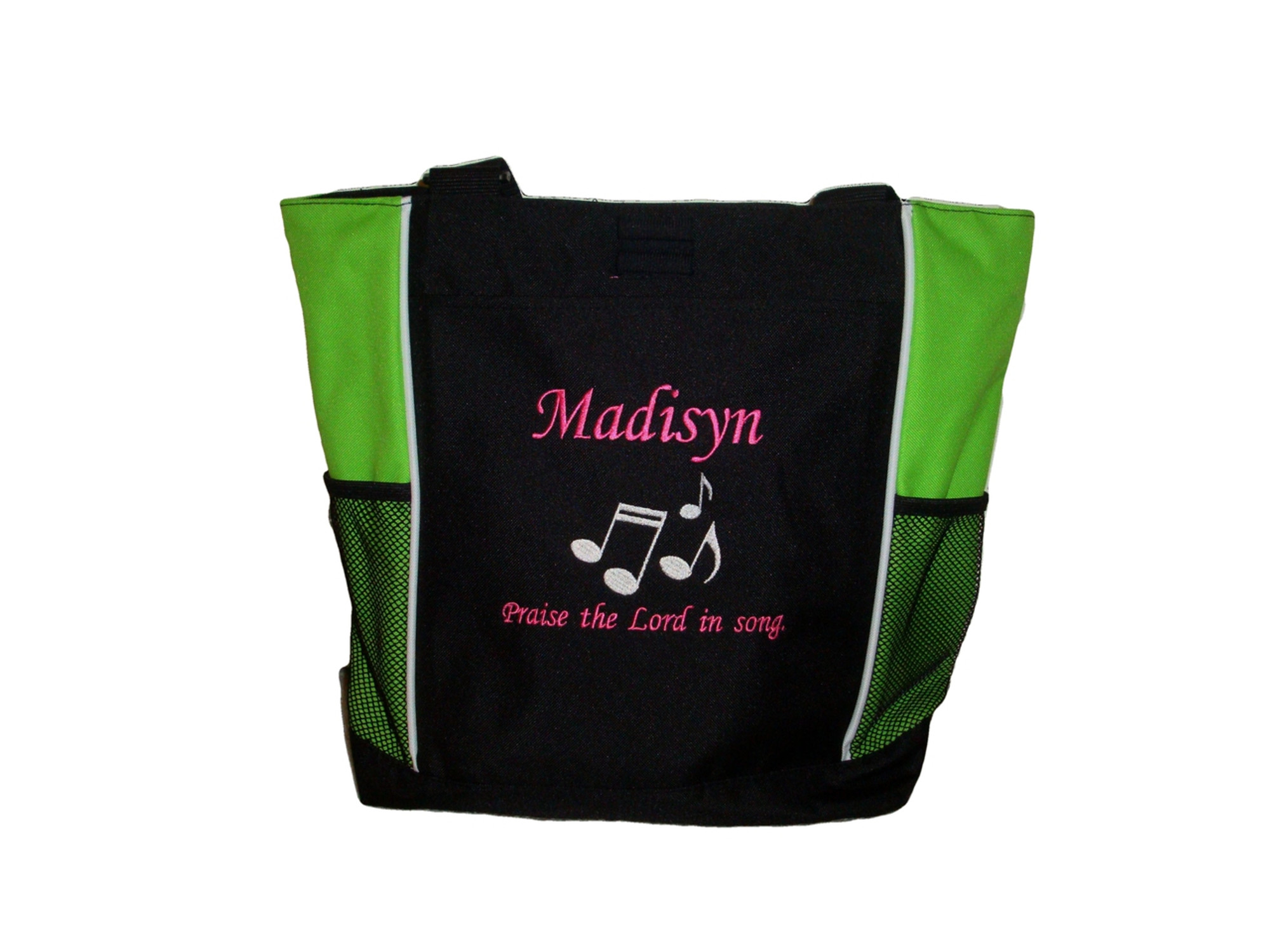 Musical Notes Messenger Bag Personalized