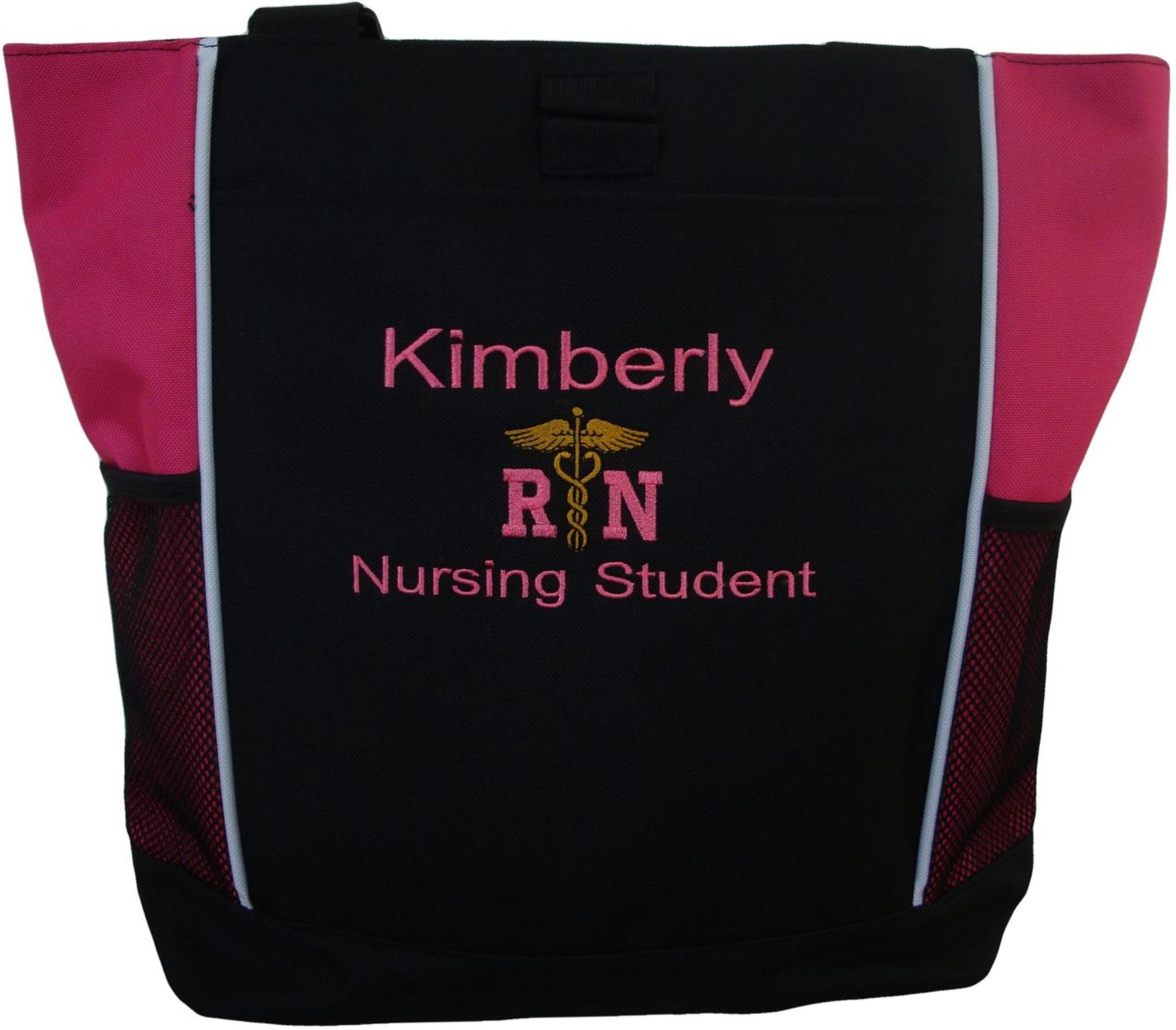 Personalized Nurse Heart Love Backpack Heart Stethoscope Respiratory Therapist Paramedic RN CNA LPN Medic Nursing Student Graduation Gift