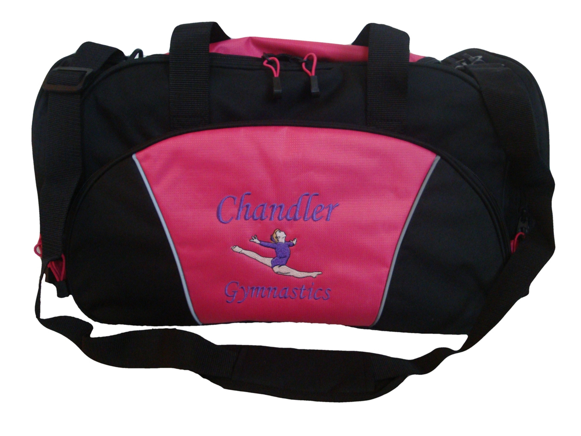 Personalized Gymnastics 3 Canvas Embroidered Shoulder Bag with FREE Personalization /& FREE SHIPPING B0750