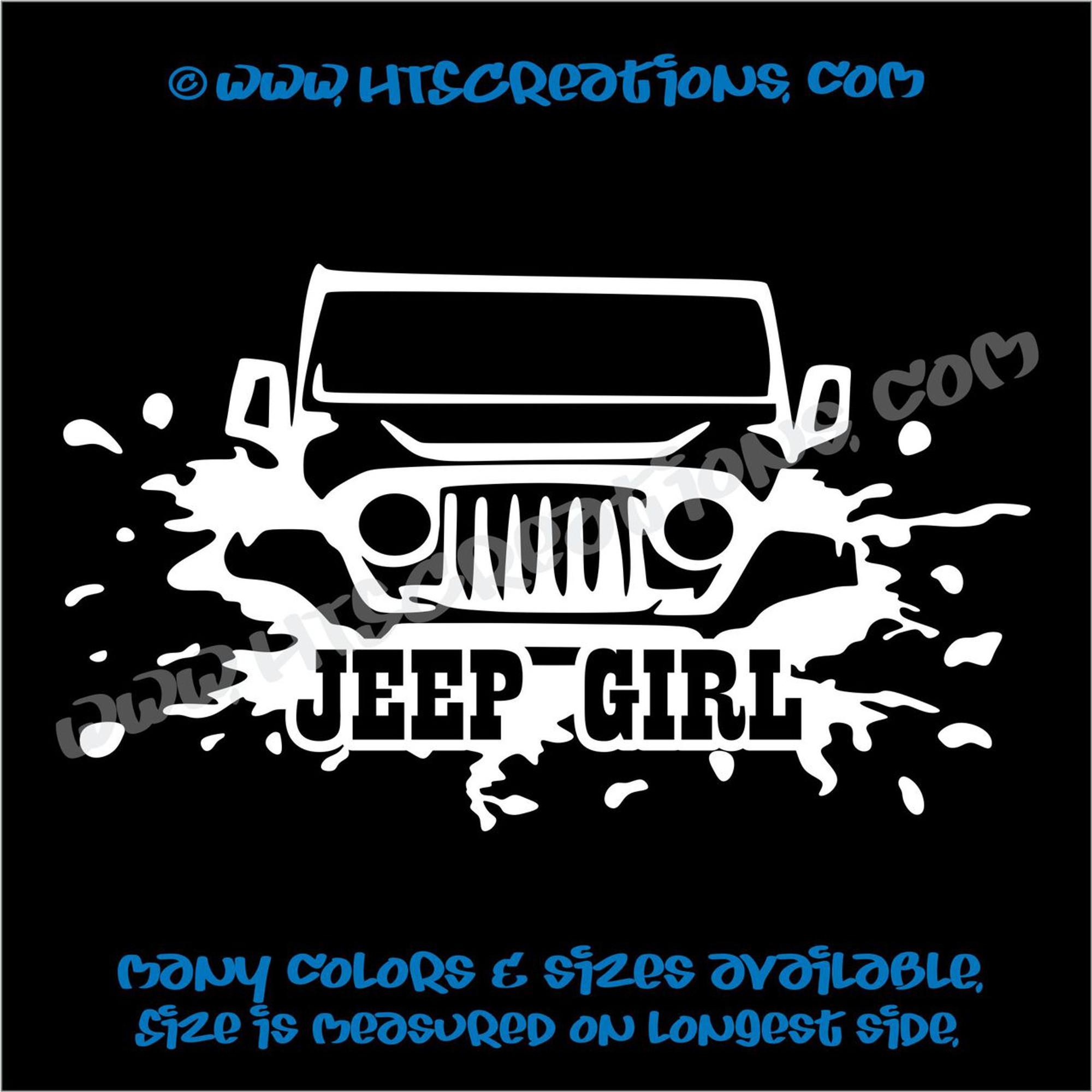 Jeep Girl Vinyl Decal