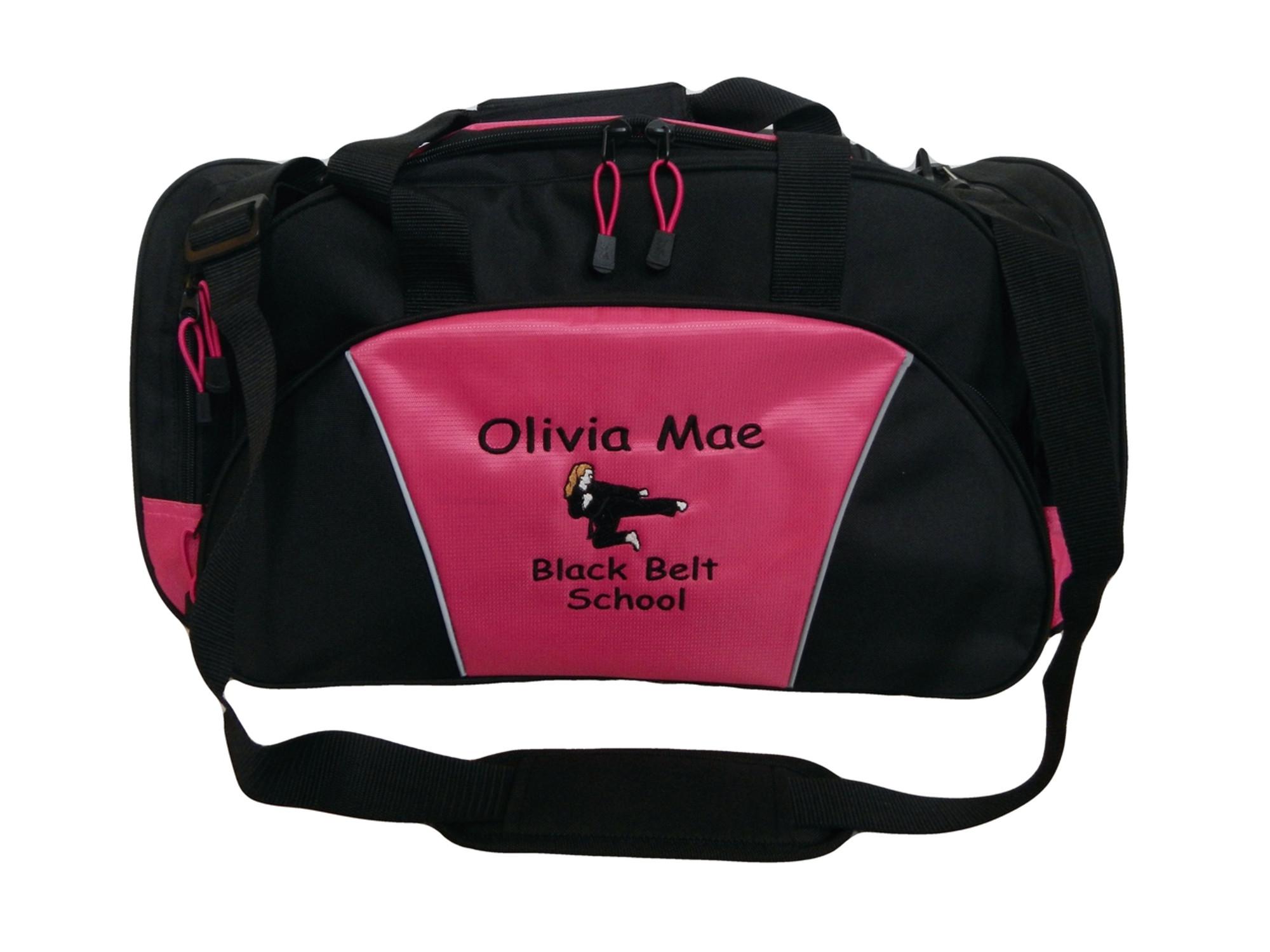 Personalized Girls Boys Karate Martial Arts Black Belt Duffle bag Any belt color