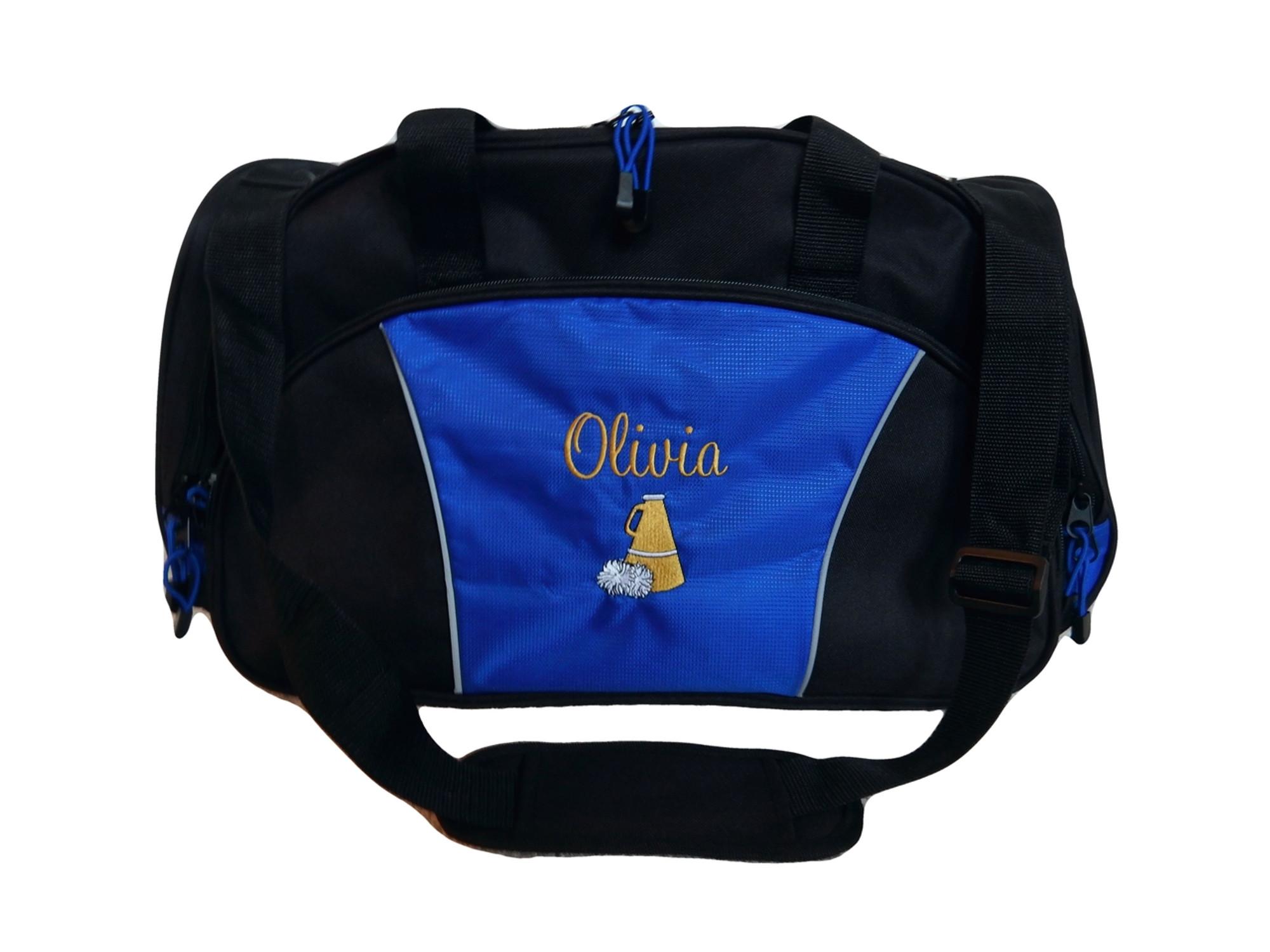 Cheer Bullhorn Cheerleading Poms Dance Personalized Embroidered Duffel f7dee56aa4de3