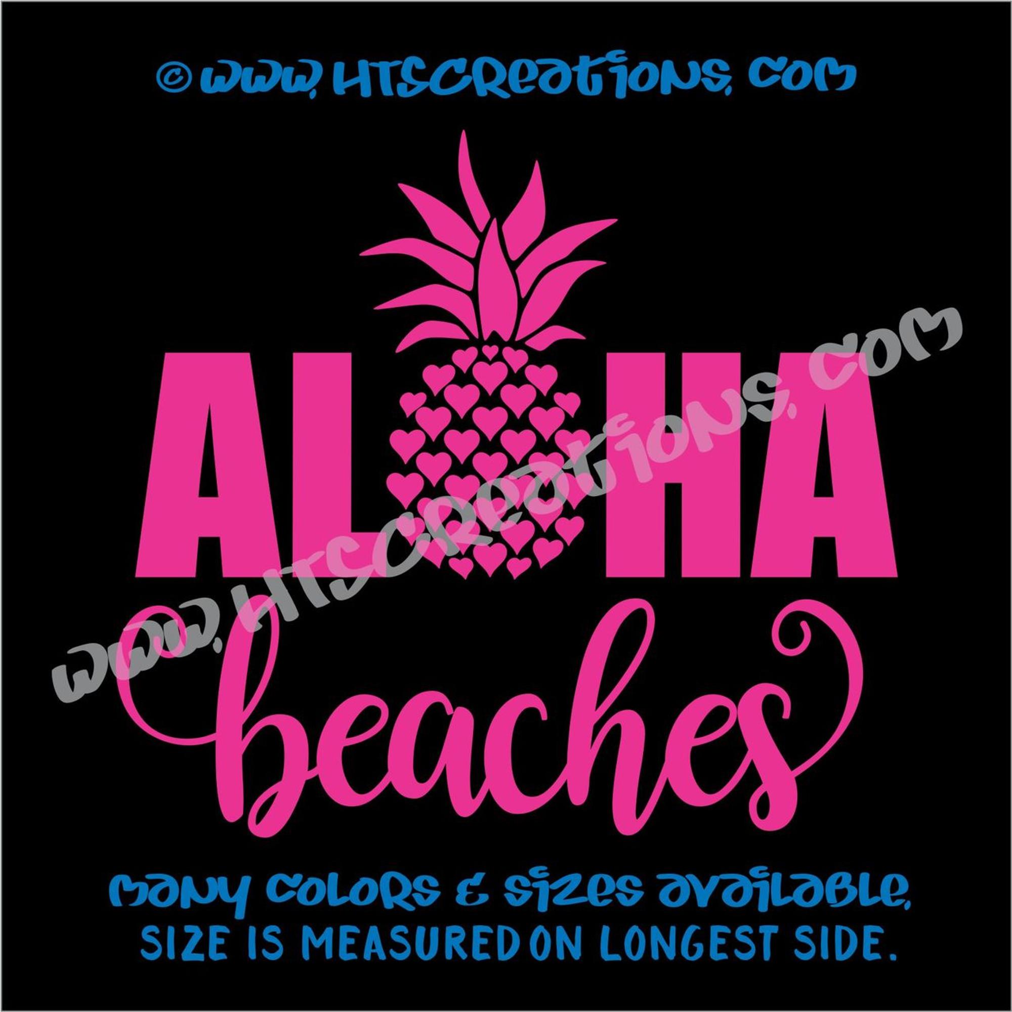 Pineapple Black Car Vinyl Sticker SELECT SIZE