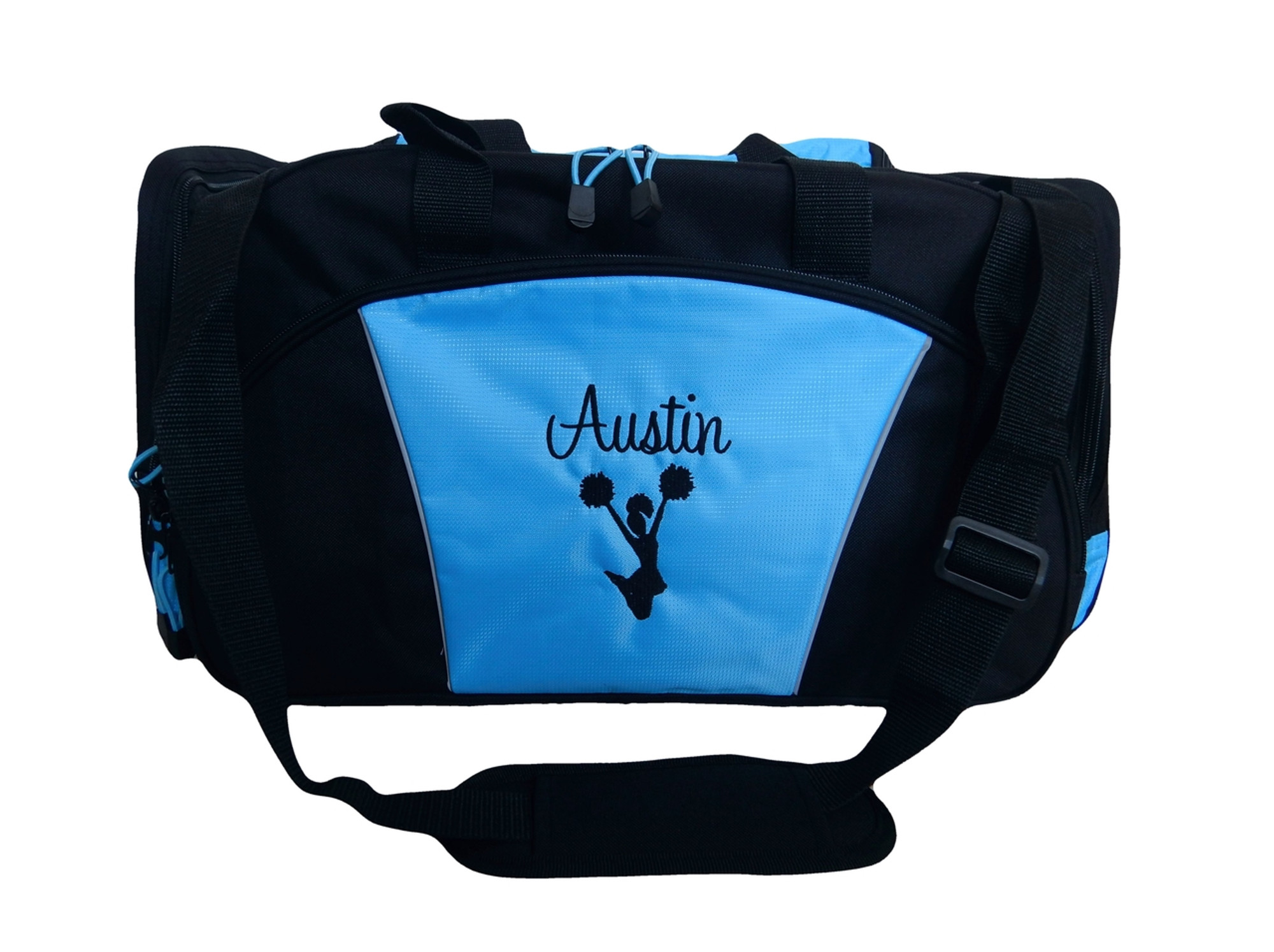 Cheer Cheerleading Poms Dance Silhouette Personalized Embroidered Duffel c16933bf7cf90