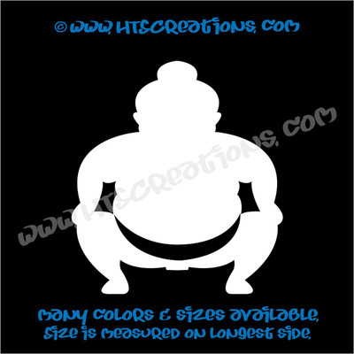 Sumo Wrestler Japanese Vinyl Decal