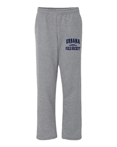 Urbana Sweatpants FIELD HOCKEY Cotton OPEN BOTTOM With Pockets FH Sticks Many Colors Available SIZE S-2XL SPORTS GREY