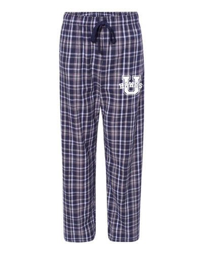 Urbana Flannel Lounge Pants with Pockets Boxercraft Unisex NAVY/WHITE YOUTH SZ S-L