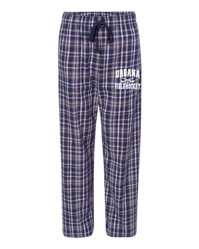Urbana Flannel Lounge Pants with Pockets FIELD HOCKEY Boxercraft Unisex NAVY/WHITE YOUTH SZ S-L