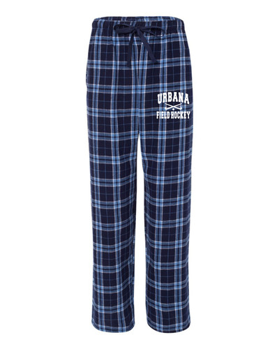 Urbana Flannel Lounge Pants with Pockets FIELD HOCKEY Boxercraft Unisex NAVY/CAROLINA BLUE SZ S-2XL