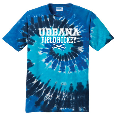 Urbana FIELD HOCKEY T-shirt Sticks Tie Dyed OCEAN RAINBOW Size S-4XL