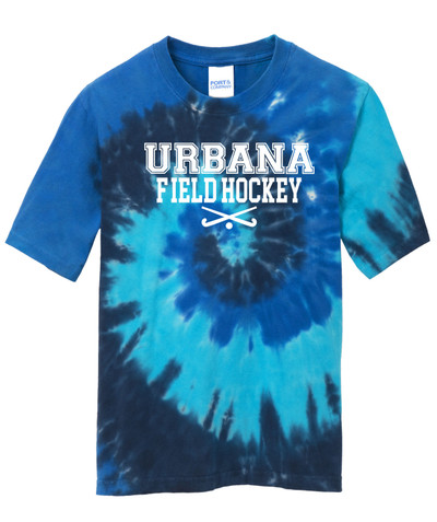 Urbana FIELD HOCKEY T-shirt Sticks Tie Dyed OCEAN RAINBOW YOUTH Size S-XL