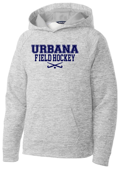 Urbana FIELD HOCKEY Hoodie Performance PosiCharge Electric Heather Fleece Pullover Sweatshirt Sticks Many Colors Available YOUTH Sizes S-XL SILVER ELECTRIC