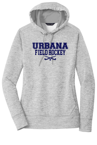 Urbana FIELD HOCKEY Hoodie Performance PosiCharge Electric Heather Fleece Pullover Sweatshirt Sticks Many Colors Available LADIES Sizes XS-4XL  SILVER ELECTRIC