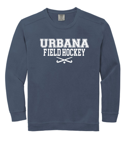 Urbana FIELD HOCKEY Cotton Crewneck COMFORT COLORS Sweatshirt Many Colors Available Size S-3XL DENIM BLUE