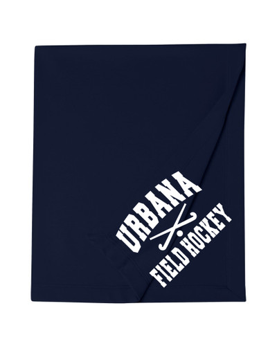 Urbana Cotton Sweatshirt Stadium Blanket FIELD HOCKEY STICKS  50x60 MANY COLORS AVAILABLE NAVY
