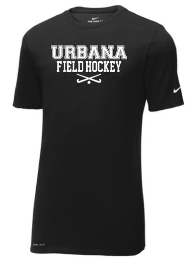 Urbana FIELD HOCKEY Sticks T-shirt NIKE Cotton/Poly DRI-FIT Many Colors Available Sz S-3XL BLACK