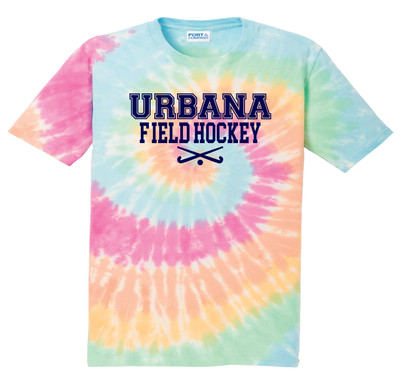Urbana FIELD HOCKEY T-shirt Sticks Tie Dyed PASTEL RAINBOW YOUTH Size S-XL