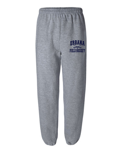 Urbana Sweatpants Cotton ELASTIC CUFF Bottom FIELD HOCKEY Sticks Many Colors Available SIZES S-2XL  SPORTS GREY